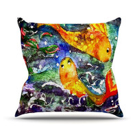 "Rosie Brown ""Fantasy Fish"" Throw Pillow 