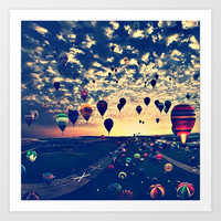 air balloons Art Print by Sjaefashion