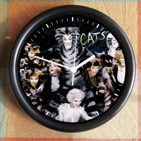 CATS the MUSICAL BROADWAY 10 inch Resin Wall Clock Movie Under 25.00 Geekery