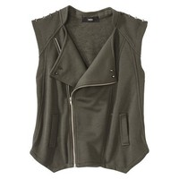 Mossimo Women&#x27;s Knit Vest w/ Studs -Olive