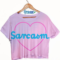 Sarcasm Crop top | fresh-tops.com
