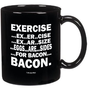 Amazon.com: Eggs Are Sides For Bacon Mug-- Perfect For Any Bacon Lover!!-- Funny High Quality Coffee Mug!! (11oz, Black): Kitchen &amp; Dining