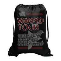 Warped Tour Official Store |  Warped Tour - Logo Cinch Bag, Nylon Drawstring, Black