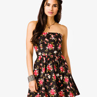 Strapless Rose Print Dress | FOREVER 21 - 2025101629