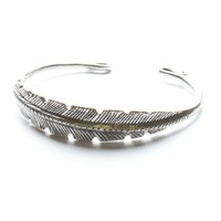 Brandy ♥ Melville |  Silver Feather Bangle - Accessories