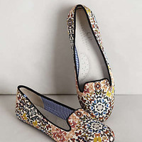 Anthropologie - Silk Mariposa Loafers