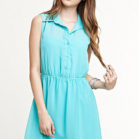 Kirra Chiffon Collared Dress at PacSun.com