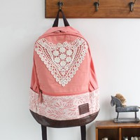 Canvas Backpack with Lace — Faboutique