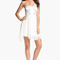 Hailey Logan Embellished Fit &amp; Flare Dress (Juniors) (Online Exclusive) | Nordstrom