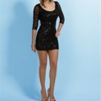 Black Sequin Mini Cocktail Dresses