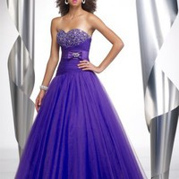 Gorgeous Ball Gown Floor Length Sweatheart Purple Pd1088 Beads Bownot Belt Prom Dress For Sale [dressnl3893] - $105.00 : dressnl.com, Prom Dresses Holland online shop