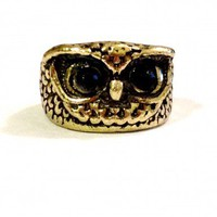 Retro Owl Ring Vintage Styled Size 5 Bronze Copper Color