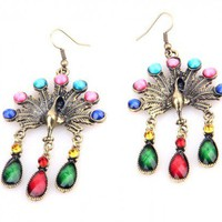 Peacock Gemstone Earrings