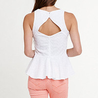 Kirra Open Back Peplum Tank at PacSun.com