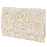 Beaded Satin Clutch | FOREVER21 - 1084810157