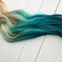 Mermaid Blonde Tape Hair Extensions//Tie by NinasCreativeCouture