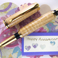 Upcycled Wooden Pen Handcrafted from Curly by MikesPenTurningZ