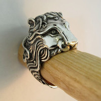 Pride Lion Ring by martymagic on Etsy