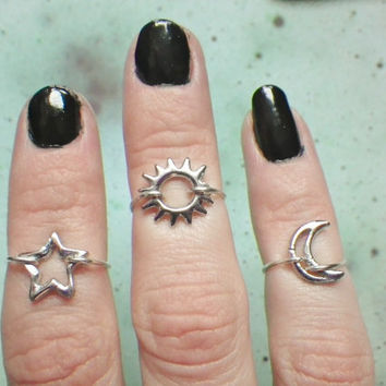 Star midi above the knuckle ring by lotusfairy on Etsy