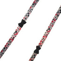 Red Black Gray Skull Punk Black Bow Wide Sneaker Tie Shoe Laces
