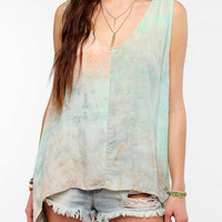 Tallow Tie-Dyed Soft Woven Tank Top