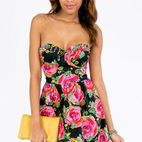 Reverse Cammie Spiked Floral Dress $60