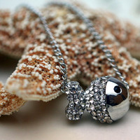 Clear Crystal Fish Pendant Chain Necklace