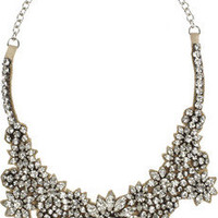 Valentino | Jewel Flowers Swarovski crystal necklace | NET-A-PORTER.COM