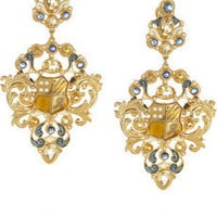 Percossi Papi|Gold-plated multi-stone earrings |NET-A-PORTER.COM