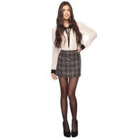 Bqueen Plaid Skirt F117E - Designer Shoes|Bqueenshoes.com