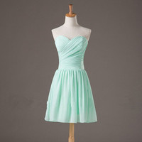 Sweetheart Neckline Chiffon Bridesmaid Dresses/Prom Dresses/Graduation Dresses