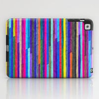 Colorful iPad Case - Broken Stripes - unique iPad case, geometric iPad case, hipster iPad case, iPad Case, iPad mini case