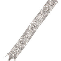 Vintage Pave Cubic Zirconia Deco Bracelet