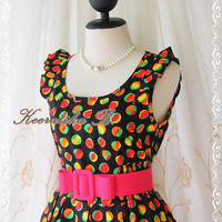 Alice Summer Dress - Beautiful Stunning Spring Summer Sundress Colorful Dotted All Over Party Dancing Country Vacation Dress
