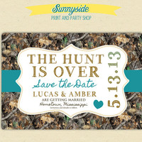 The Hunt is Over - Save the Date Postcard  - Camo