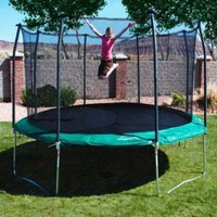 Amazon.com: Skywalker Trampolines 17-ft. Oval Trampoline with Spring Pad Color - Green: Sports & Outdoors