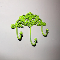 Hook Wall Hanger Lime GreenRack Jewelry Key by AquaXpressions