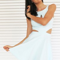 Dress Skater Cut Out Mint