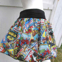 Marvel Comic Books Captain America Thor Iron Man Hulk retro Skirt shirt S-XL DiY