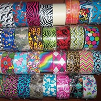 Patterned Duck Brand Duct Tape Roll - 34 Pattern Choices