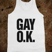 Gay OK - LGBT Pride - Skreened T-shirts, Organic Shirts, Hoodies, Kids Tees, Baby One-Pieces and Tote Bags