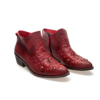 FLAT ANKLE BOOT WITH RHINESTONES - Shoes - Woman - ZARA United States