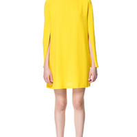 DRESS WITH CAPE SLEEVE - Dresses - Woman - ZARA United States