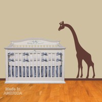 Wall Decal Giraffe Peeking Nursery Wall Decal