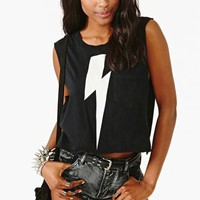 White Lightning Muscle Tee