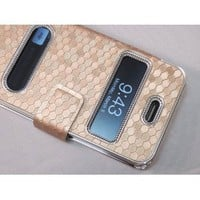 Gold Silver Luxury Luxurious Synthetic Leather Magnetic Flip Case Cover Protector Skin for iPhone 4 4G 4S: Cell Phones &amp; Accessories