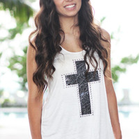 Cross Tank Top - Furor Moda - Tops - Dresses - Jackets - Vintage