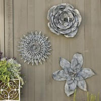 Zinc Flower Wall Plaque | Ballard Designs