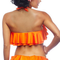Nicolita 2012: Rumba Ruffles Color Separates Swimwear Crop Top T11R019, Hipster Bottom B5R019