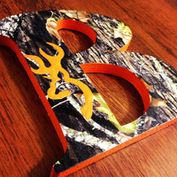Browning Mossy Oak Wooden letters by CuteNCustom on Etsy